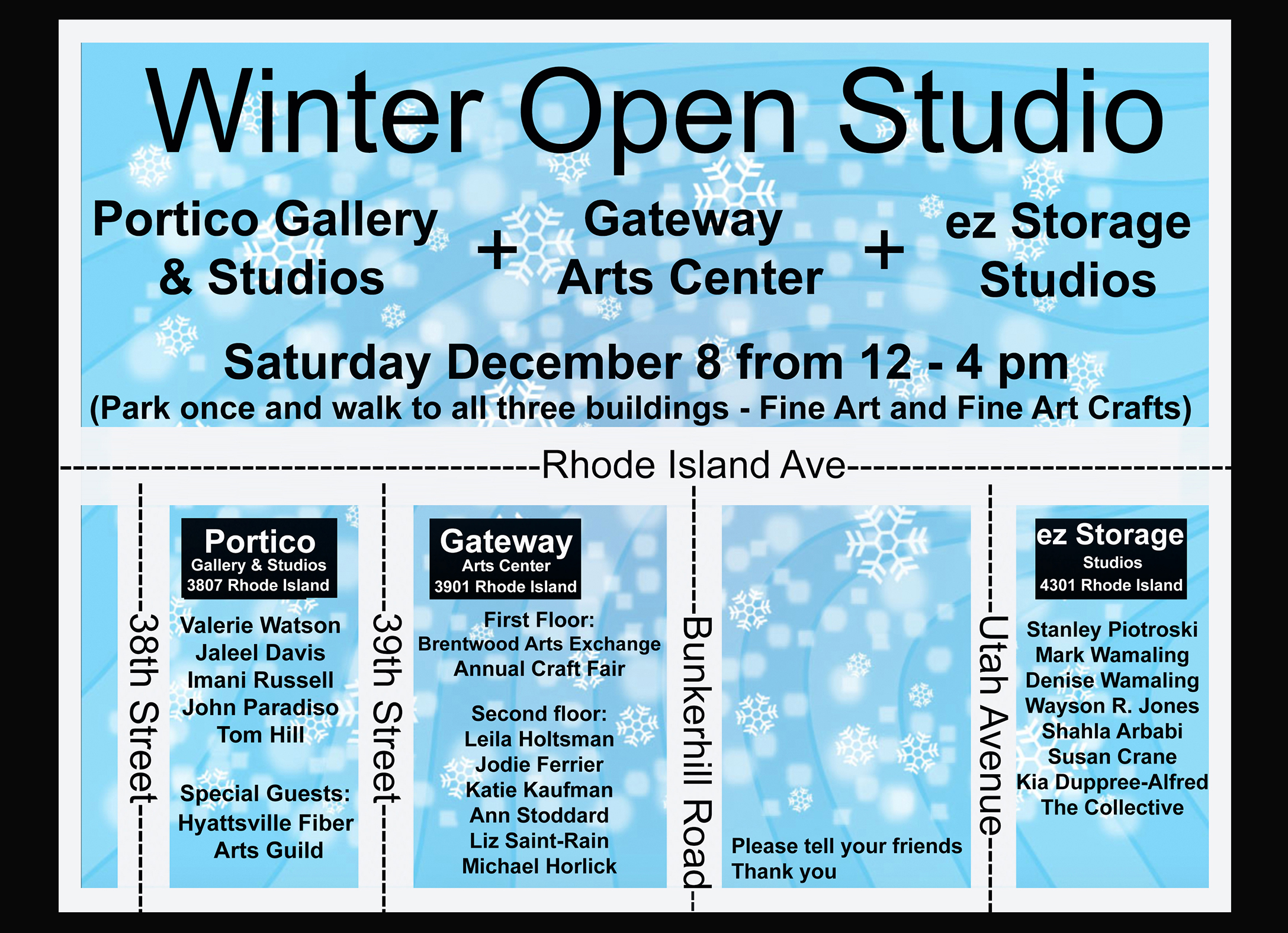 Winter Open Studio and Craft Sale, Dec 8 from 12 – 4pm